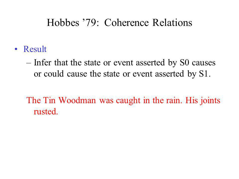 Hobbes '79: Coherence Relations