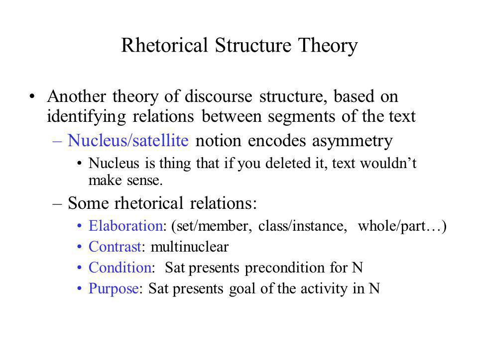 Rhetorical Structure Theory