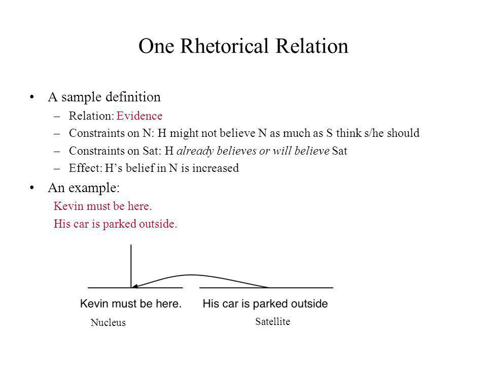 One Rhetorical Relation