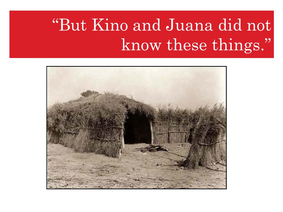But Kino and Juana did not know these things.