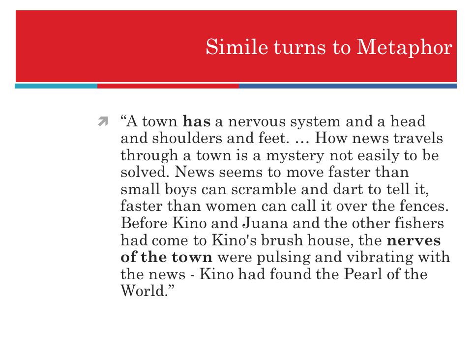 Simile turns to Metaphor