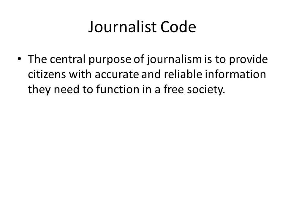 Journalist Code