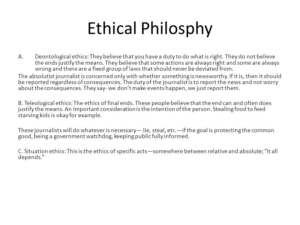 Ethical Philosphy