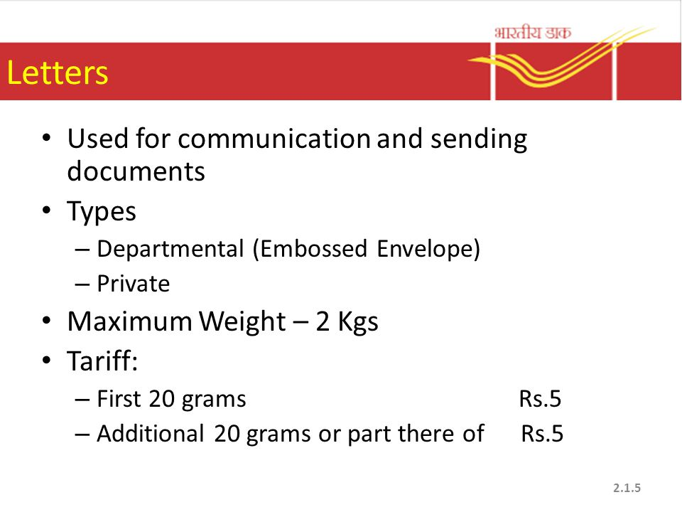 Letters Used for communication and sending documents Types