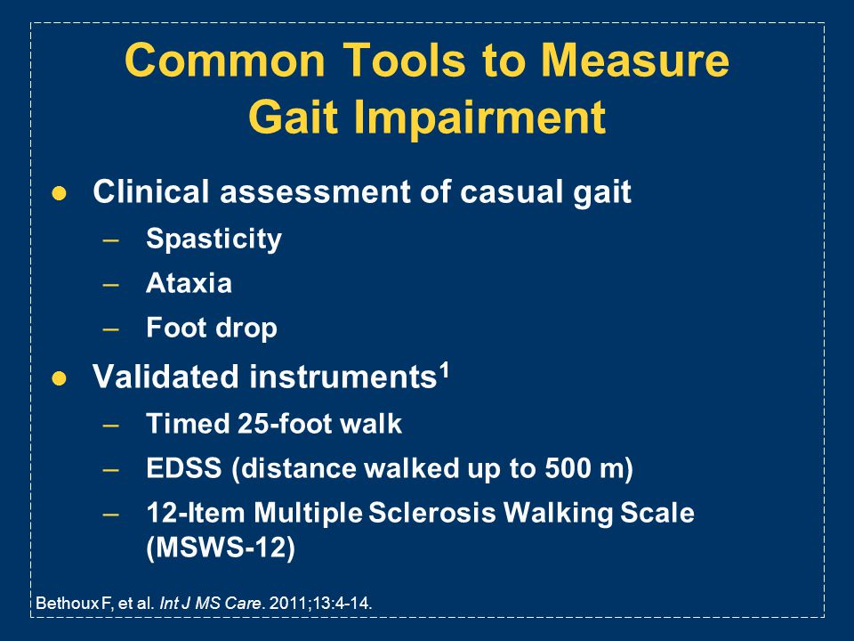 Common Tools to Measure Gait Impairment