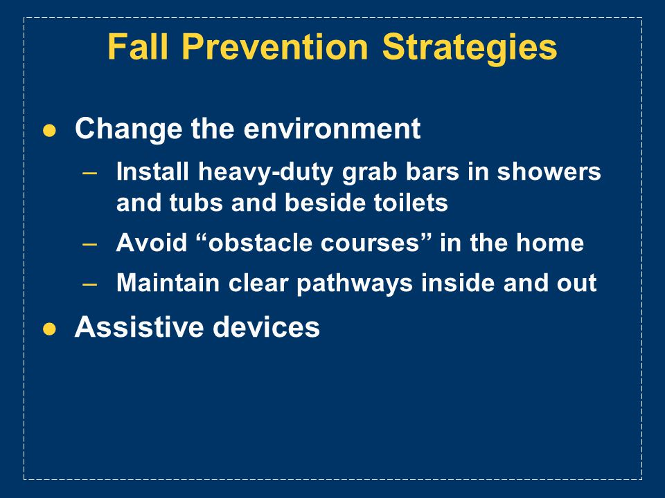 Fall Prevention Strategies