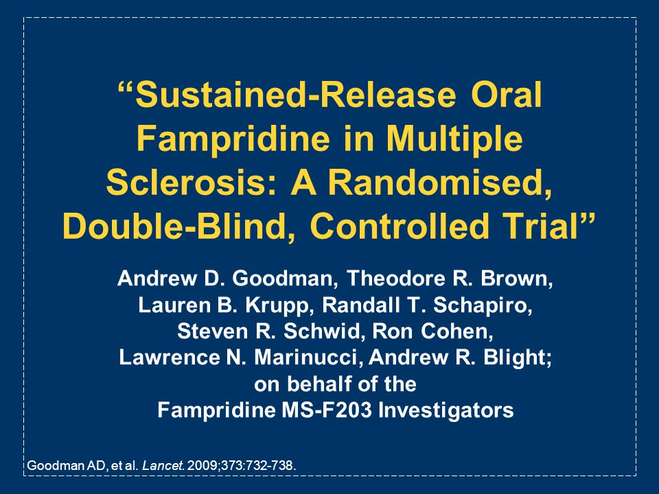 Sustained-Release Oral Fampridine in Multiple Sclerosis: A Randomised, Double-Blind, Controlled Trial