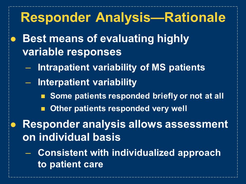 Responder Analysis—Rationale
