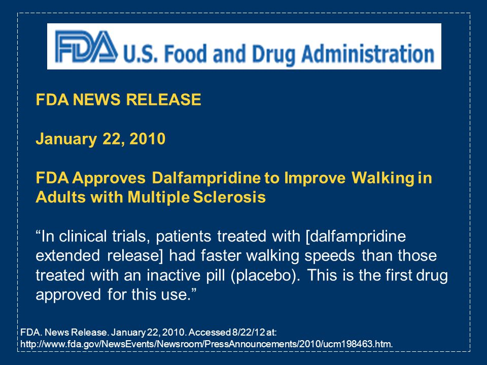 FDA NEWS RELEASE January 22, 2010