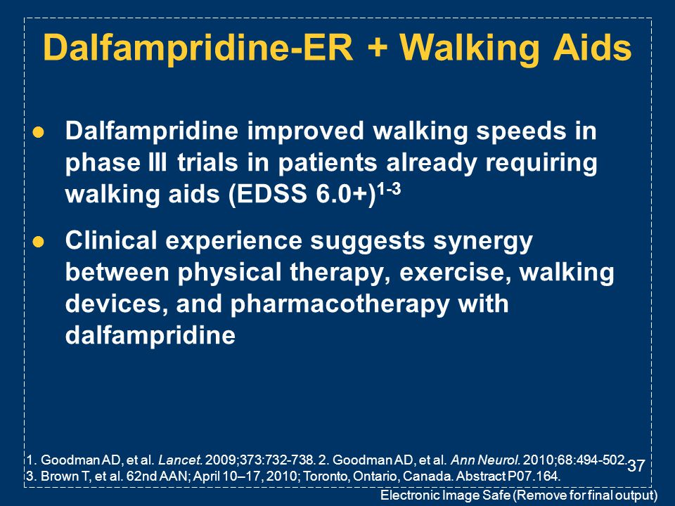 Dalfampridine-ER + Walking Aids