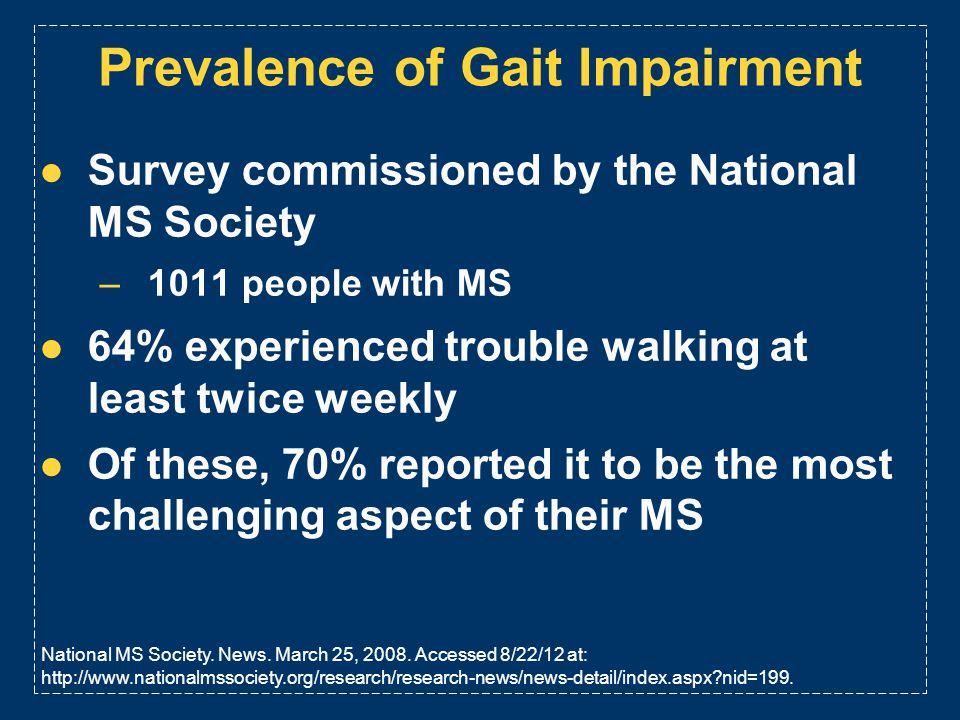 Prevalence of Gait Impairment