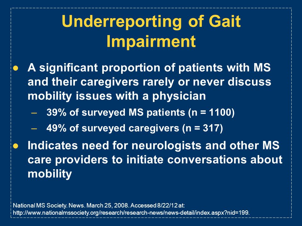 Underreporting of Gait Impairment