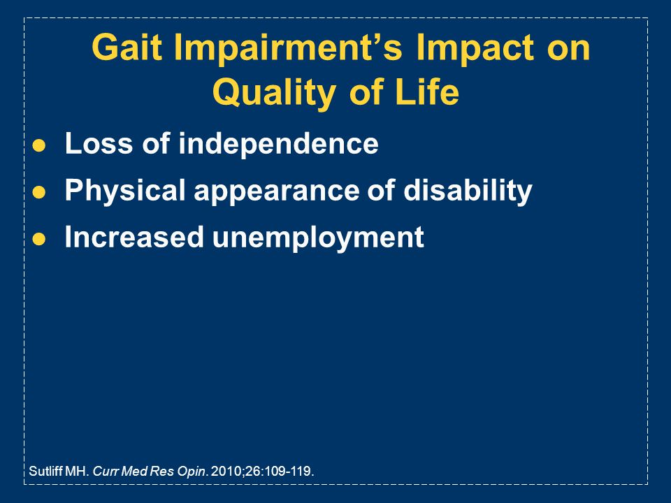 Gait Impairment's Impact on Quality of Life