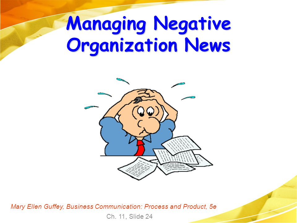 Managing Negative Organization News