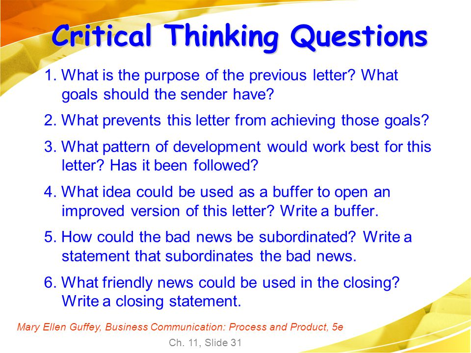 Critical thinking questions for customer service need an essay