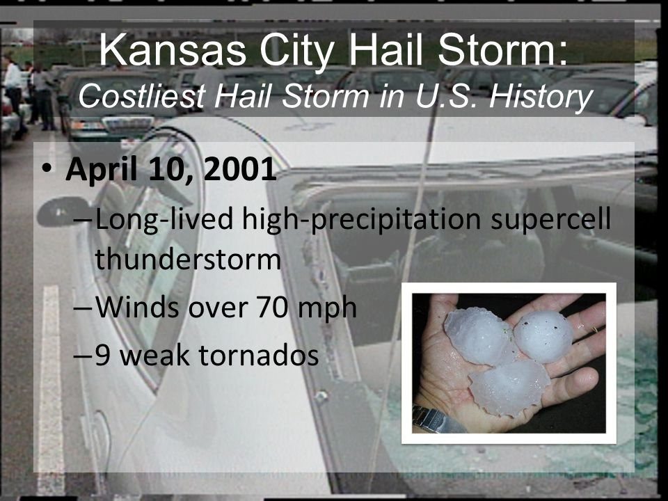 Kansas City Hail Storm: Costliest Hail Storm in U.S. History