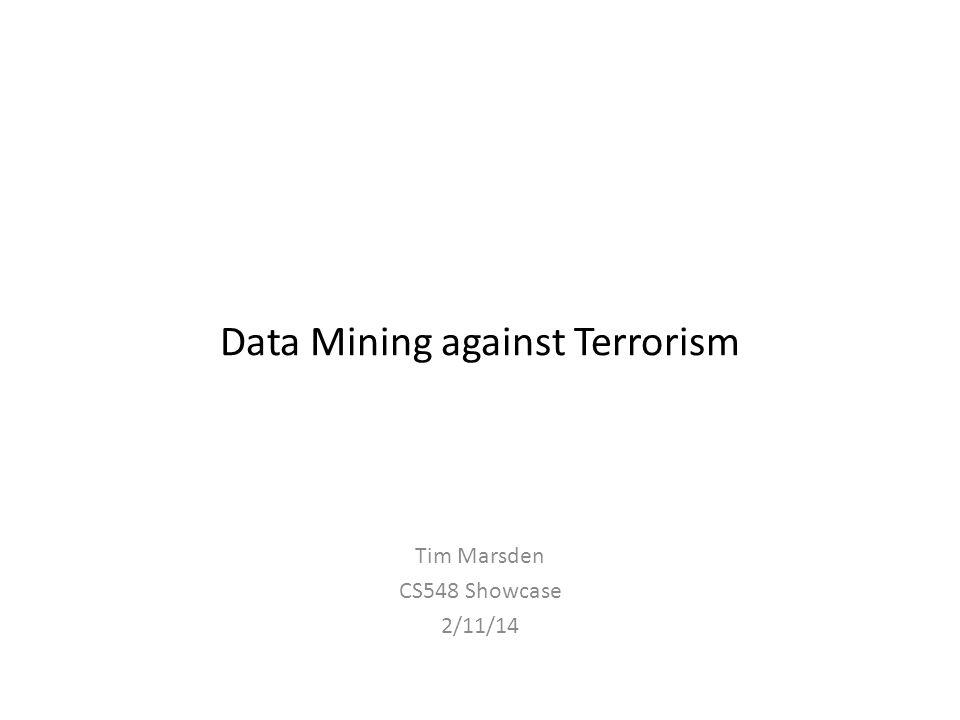 Data Mining against Terrorism