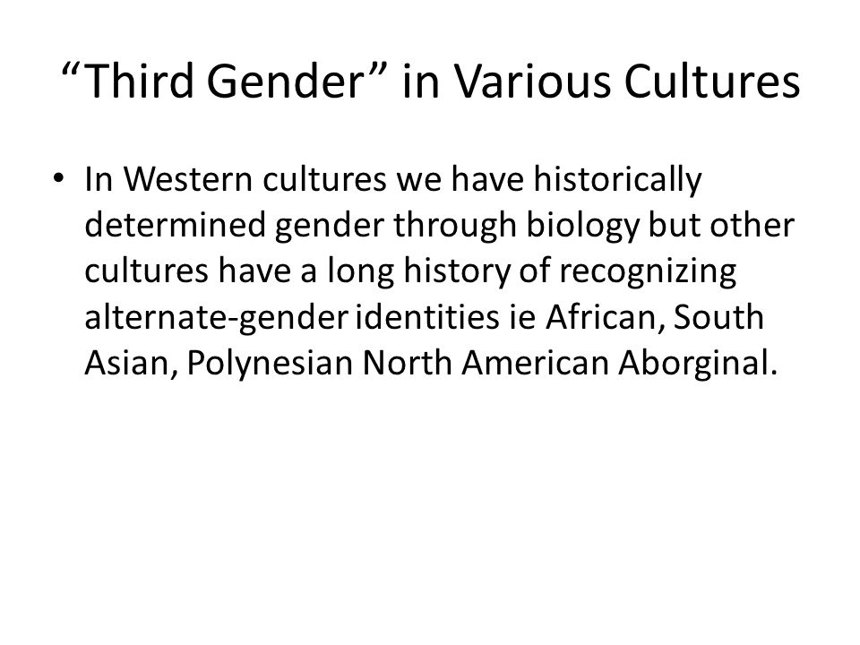 Third Gender in Various Cultures