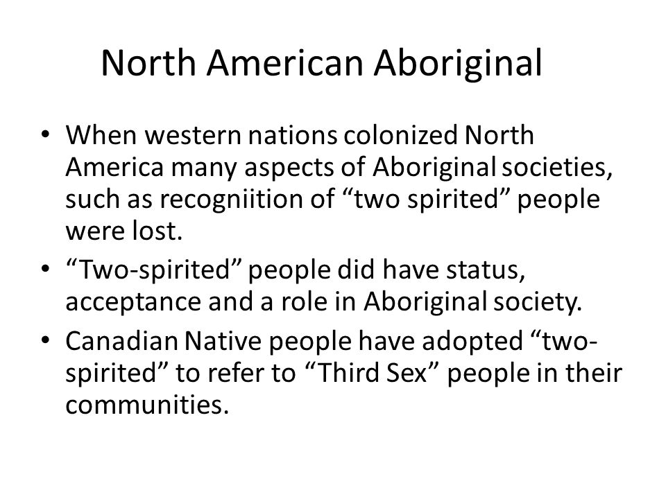 North American Aboriginal