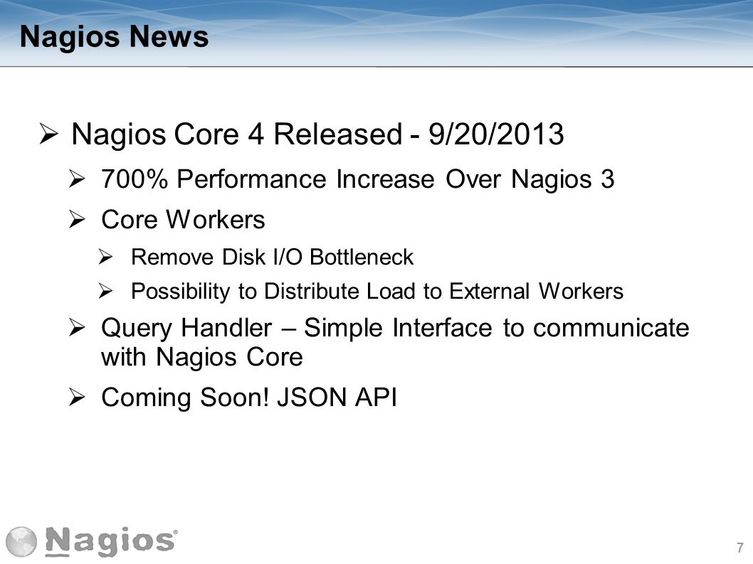 Nagios Core 4 Released - 9/20/2013