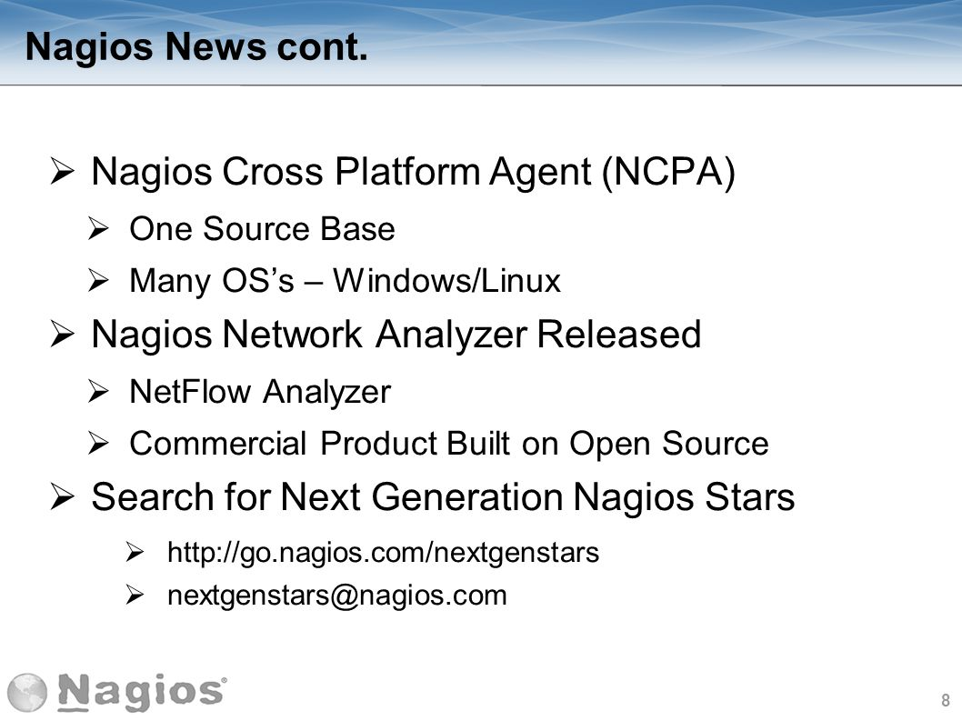 Nagios Cross Platform Agent (NCPA)