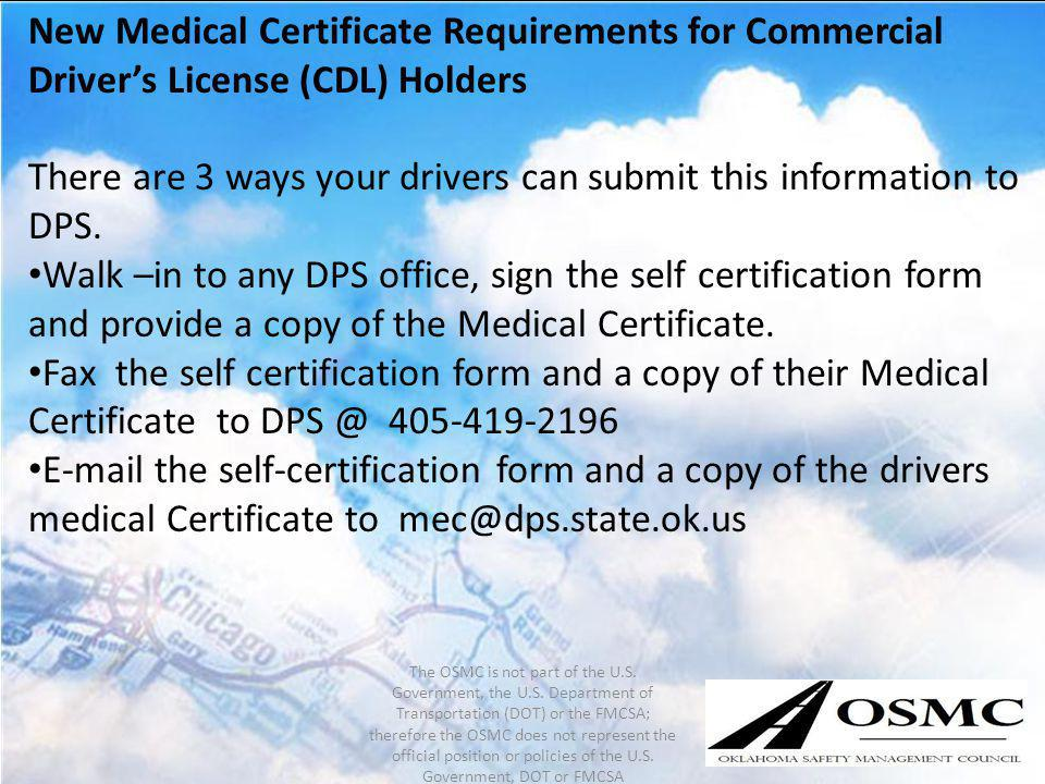 There are 3 ways your drivers can submit this information to DPS.