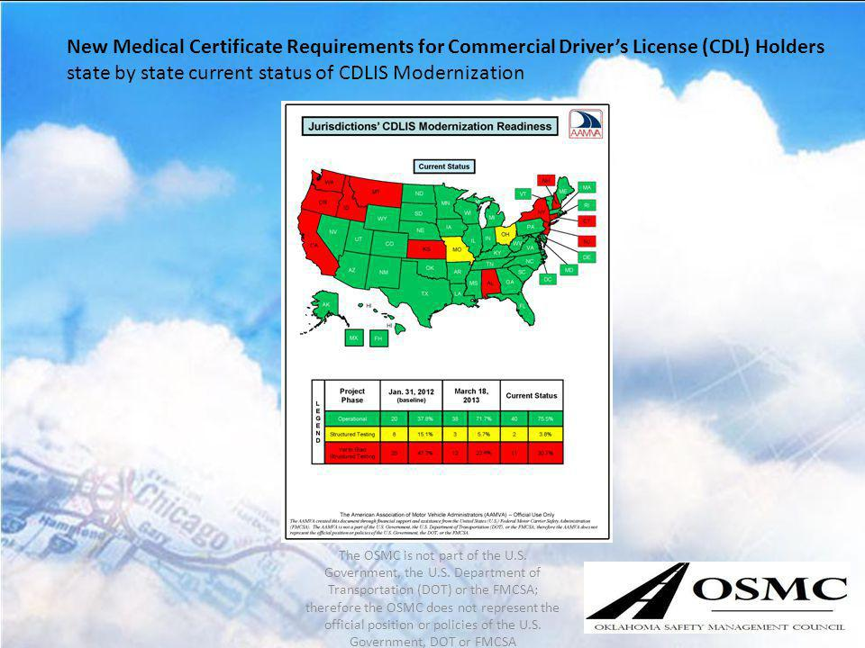 state by state current status of CDLIS Modernization