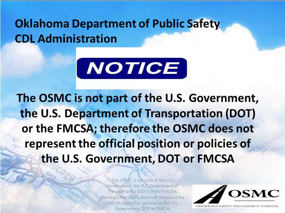 Oklahoma Department of Public Safety CDL Administration