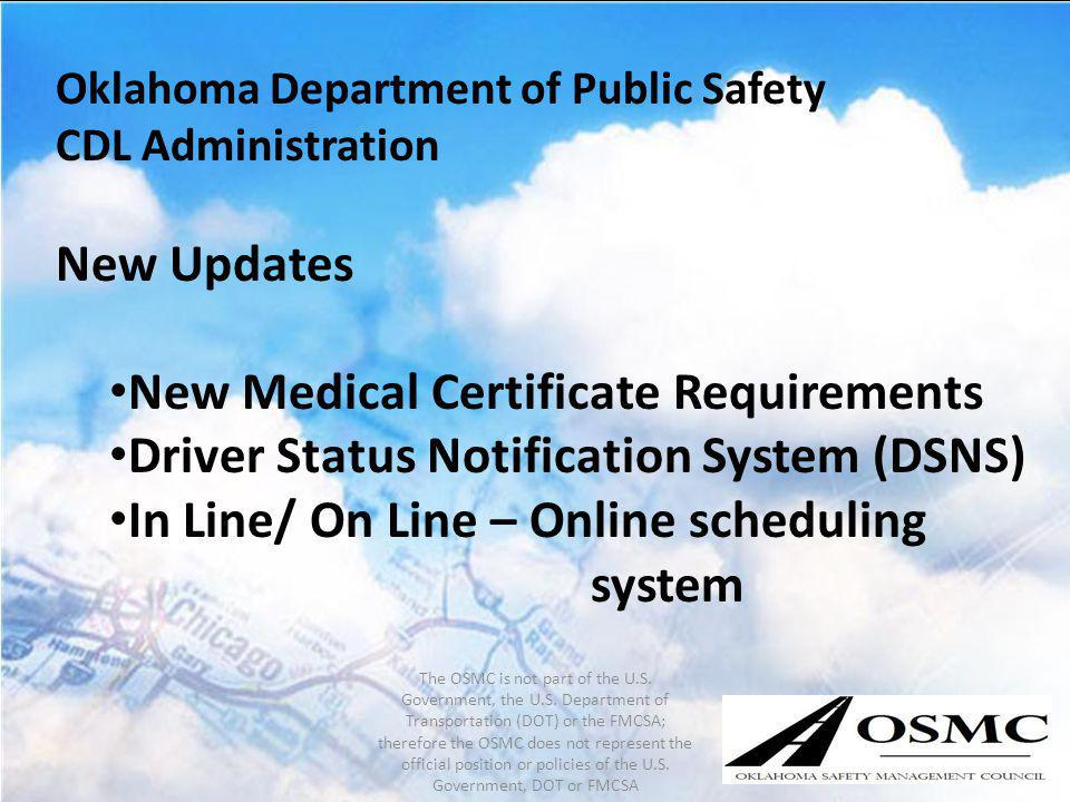 New Medical Certificate Requirements