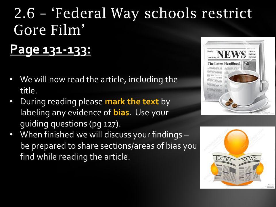 2.6 – 'Federal Way schools restrict Gore Film'