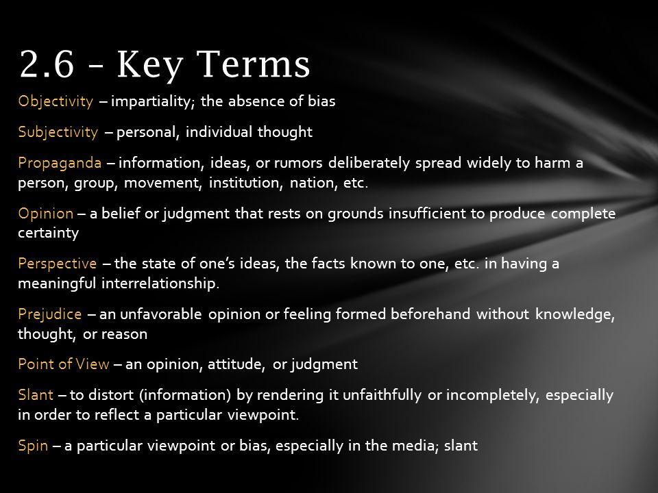 2.6 – Key Terms