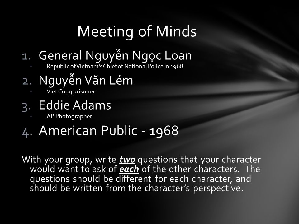 Meeting of Minds American Public - 1968 General Nguyễn Ngọc Loan