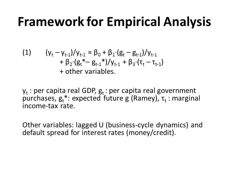 Framework for Empirical Analysis