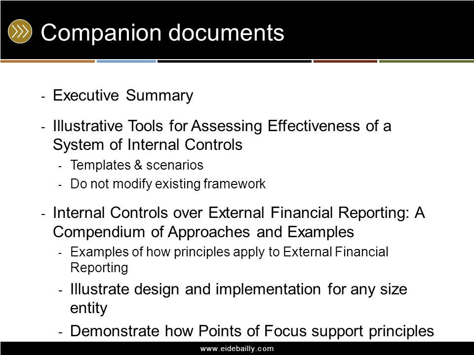 Companion documents Executive Summary