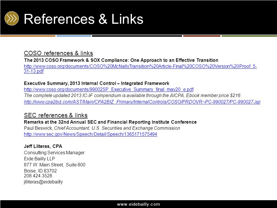 Coso changes coming in 2014 an overview of cosos 2013 update to 27 references fandeluxe Choice Image