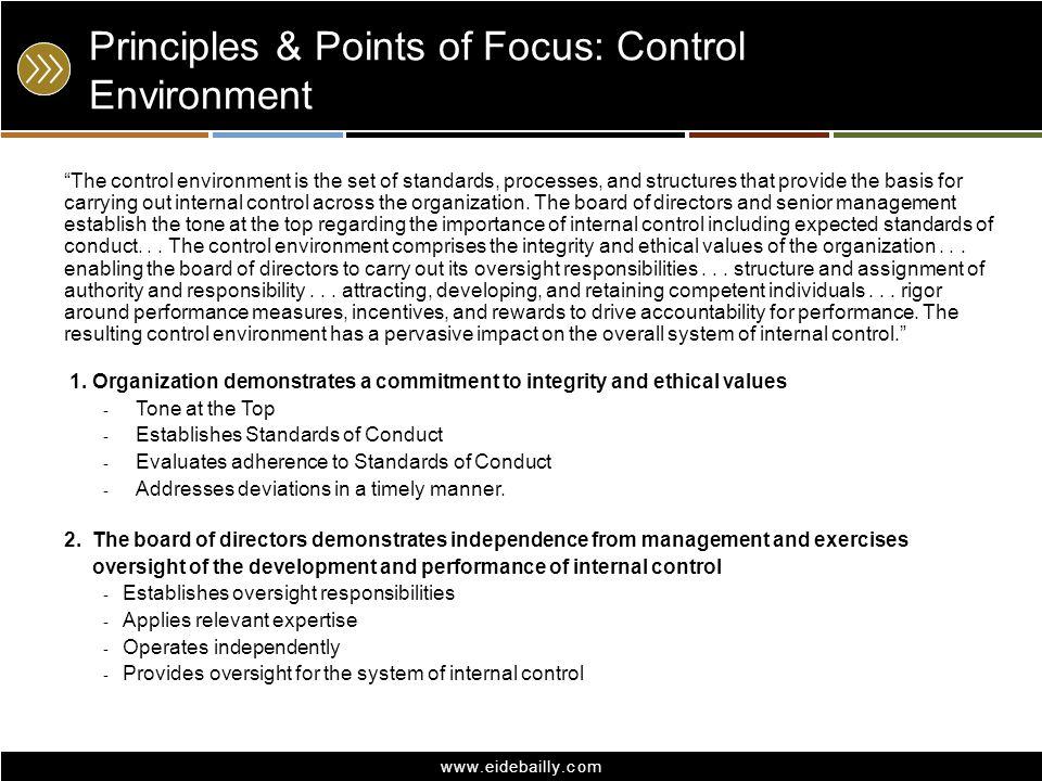 Principles & Points of Focus: Control Environment