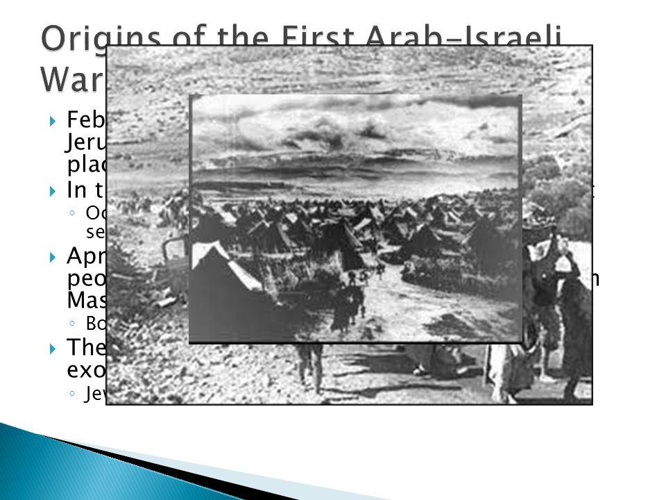 Origins of the First Arab-Israeli War