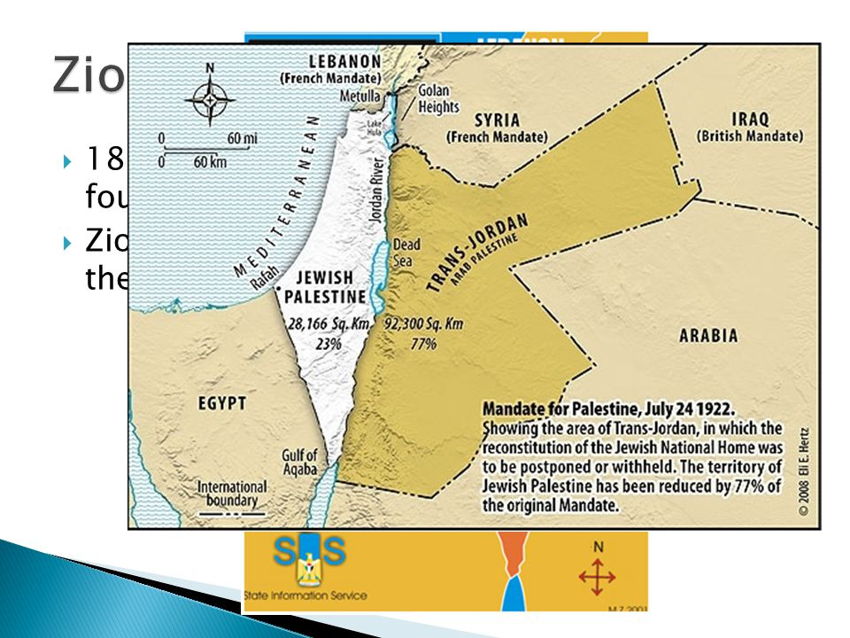 Zionism 1897 The World Zionist Organization was founded