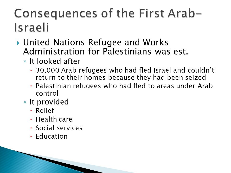 Consequences of the First Arab-Israeli