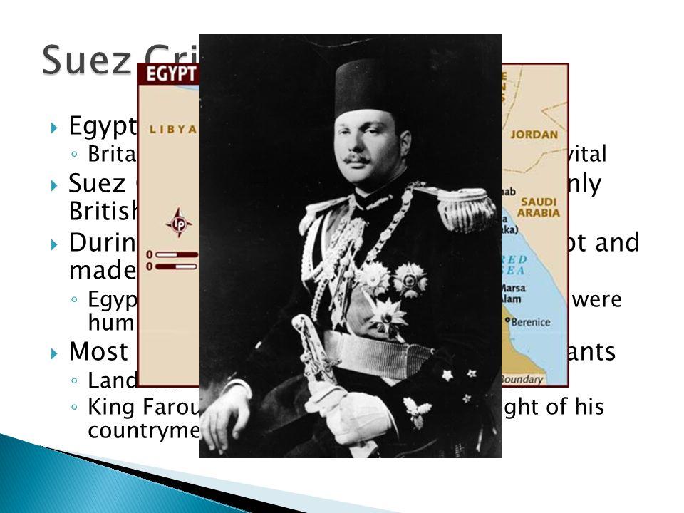 Suez Crisis Egypt was under British control