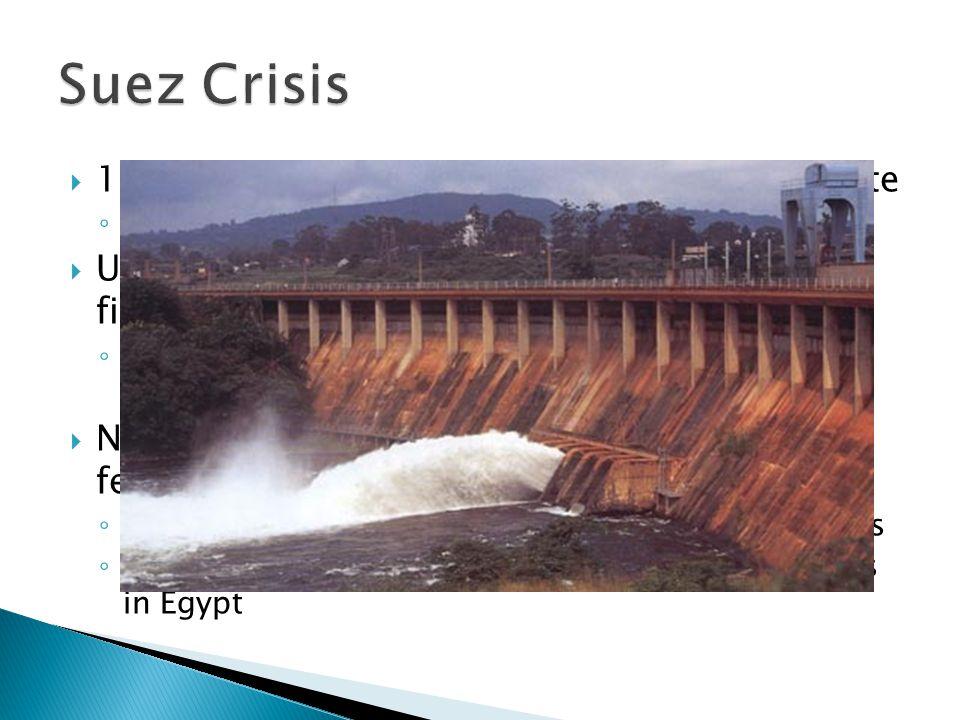 Suez Crisis 1956, Nasser announces a socialist Arab state