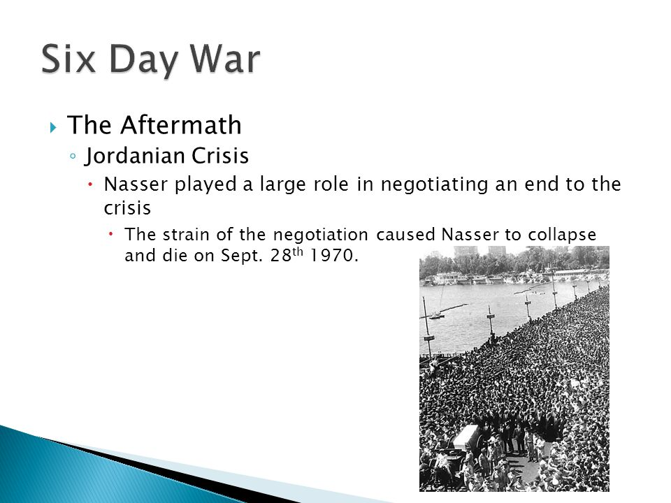 Six Day War The Aftermath Jordanian Crisis