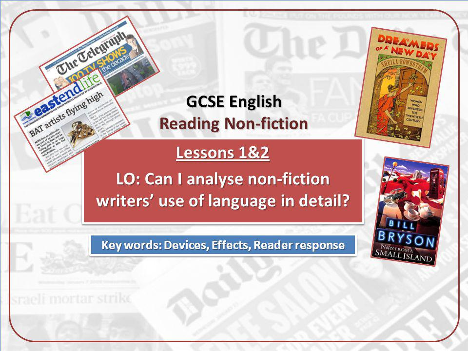 GCSE English Reading Non-fiction