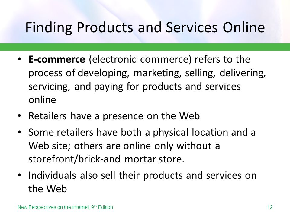 Finding Products and Services Online