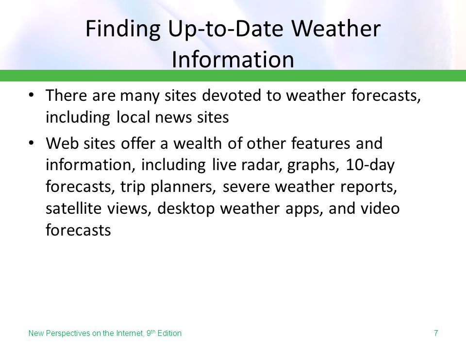 Finding Up-to-Date Weather Information