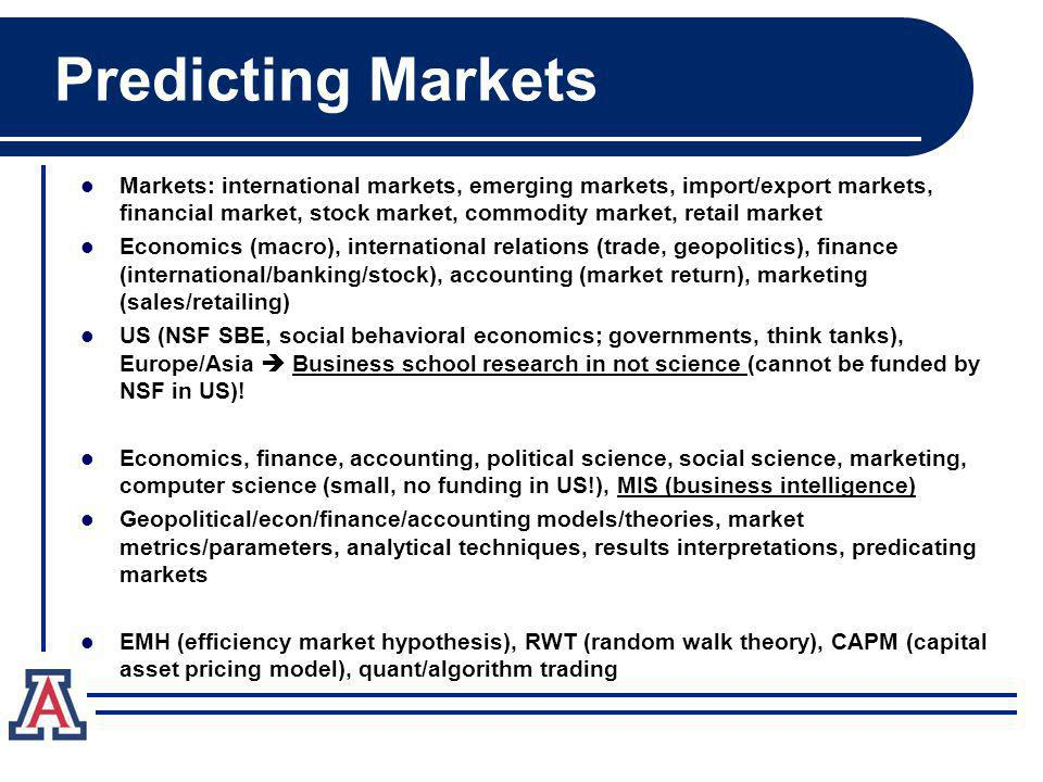 Predicting Markets