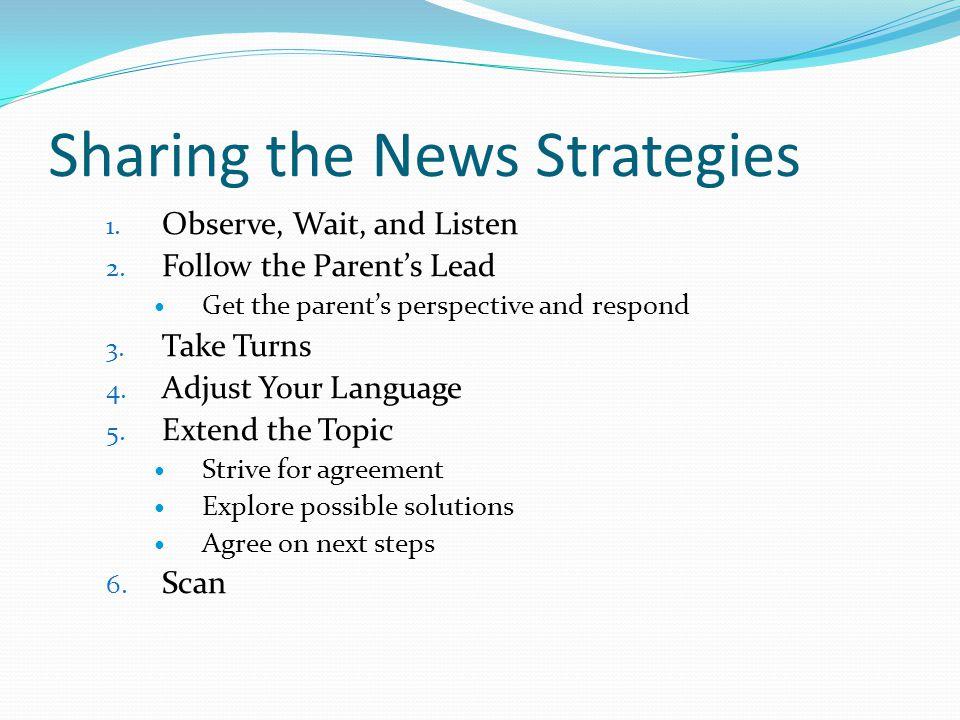 Sharing the News Strategies