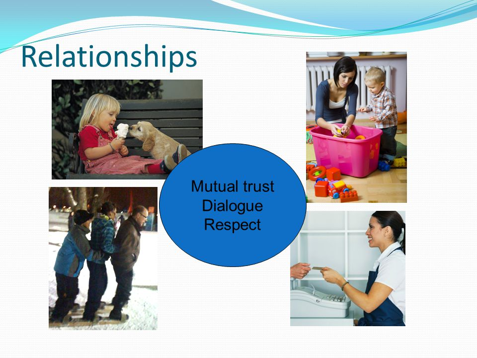 Relationships Mutual trust Dialogue Respect