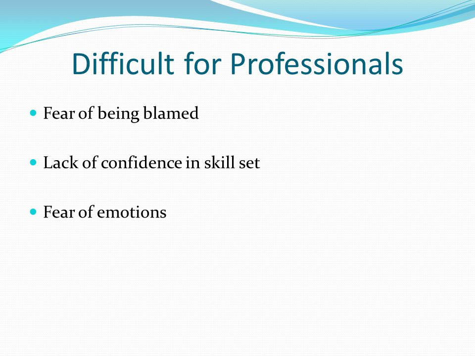 Difficult for Professionals