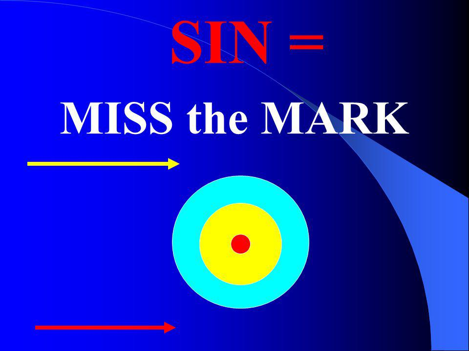 SIN = MISS the MARK